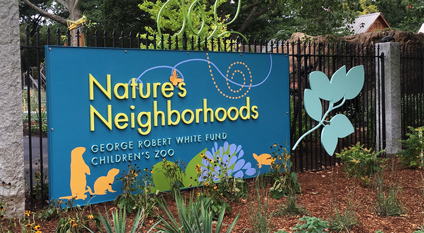 Zoo exhibit design by Main Street Design for Franklin Park Zoo; Identity Signage.